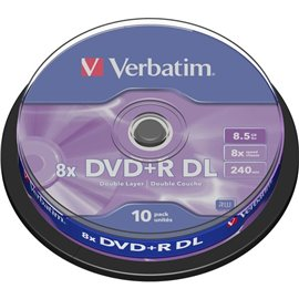 DVD Verbatim - DVD+R - 8,5 Gb - 8x - DL - Spindle - 43666 (conf.10)