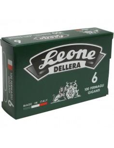 Fermagli zincati Leone Dell'Era - Punte rotonde - N 6 - 58 mm - FZ6 (conf.10x100)