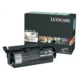 Originale Lexmark X651A11E Toner return program nero