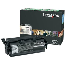 Originale Lexmark X651H11E Toner alta resa return program nero