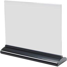 Porta-avvisi bifronte in acrilico Deflecto - A5 orizzontale - 22x8x18,5 cm - 58545