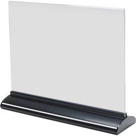Porta-avvisi bifronte in acrilico Deflecto - A4 orizzontale - 31x8x24,5 cm - 58445