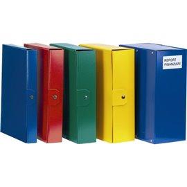 Scatole portaprogetti Delso Order Esselte - dorso 8 cm - 25x35 cm - giallo - 390388090 (conf.5)