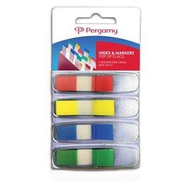 Segnapagina mini Pergamy - 11x43 mm - blu, giallo, rosso, verde - 900765 (conf.4)