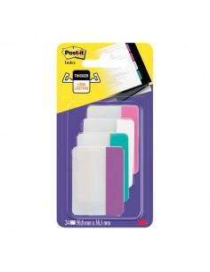 Post-it® Index Strong 686 Colore per archivio - rosa, bianco, azzurro, viola - 686-PWAVEU (conf.24)