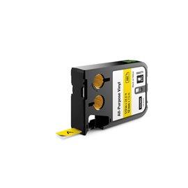 Etichette XTL in vinile Dymo - 12 mm - nero/giallo - 1868771