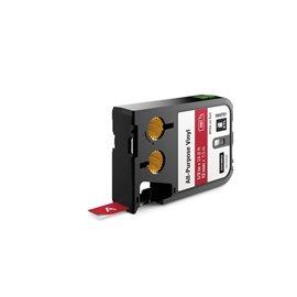 Etichette XTL in vinile Dymo - 12 mm - bianco/rosso - 1868761