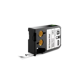 Etichette XTL in vinile Dymo - 19 mm - nero/bianco - 1868752