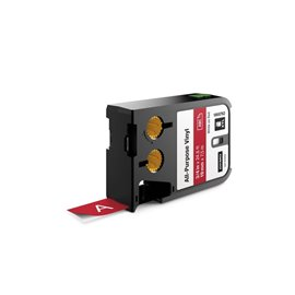 Etichette XTL in vinile Dymo - 19 mm - bianco/rosso - 1868762