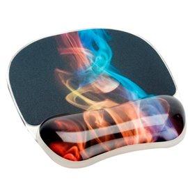 Tappettino Mouse con poggiapolsi Photo Gel Fellowes - fumo arcobaleno - 9204001