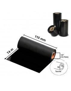 """Ribbon Wax Standard 110 mm x 74 m - CSO - 1/2"""" - tacche"""