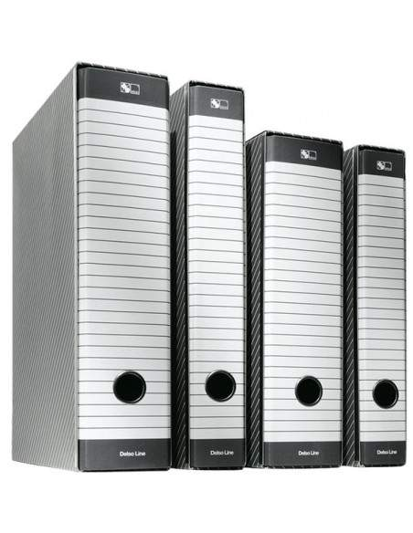 Registratori Delsoline Esselte - Commerciale - f.to utile 23x30 cm - 5 cm - bianco/grigio - 390712060