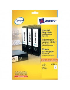 Etichette per raccoglitori Avery - Laser - 192x38 mm - bianco - L4760-25 (conf.25)