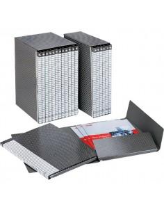 Gruppi di 6 cartelle Delso Line Esselte - Dorso 3 - 25x32 cm - bianco/grigio - 390956040