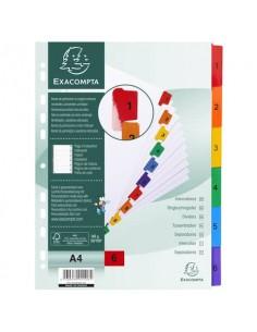 Divisori in cartoncino A4 con tasti stampati Nature Future Exacompta - A4 - 1-6 - 1106E