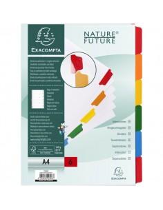 Divisori in cartoncino Nature Future tasti neutri Exacompta - A4 - 6 - 2306E
