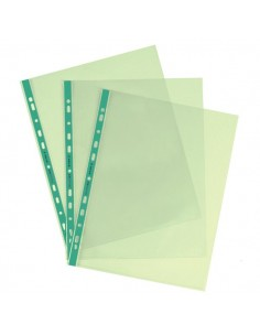 Buste a foratura universale Favorit Art - 22x30 cm - liscio - verde - 100206800 (conf.25)