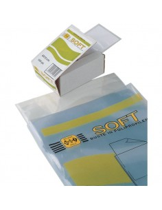 Buste trasparenti Soft Sei Rota - 11x21 cm - 651121 (conf.100)