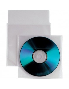 Buste trasparenti porta CD/DVD Insert Sei Rota -Con patella e striscia autoadesiva- 430102 (conf.25)