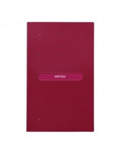 Portabiglietti da visita Matrix Favorit in ppl - rosso - 12x20 cm - 400101767