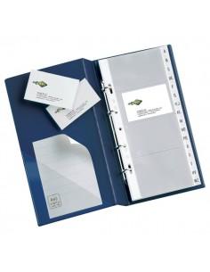 Portabiglietti da visita MC30 Sei Rota - 3 anelli, 320 biglietti - nero 16,5x28cm - 57093110