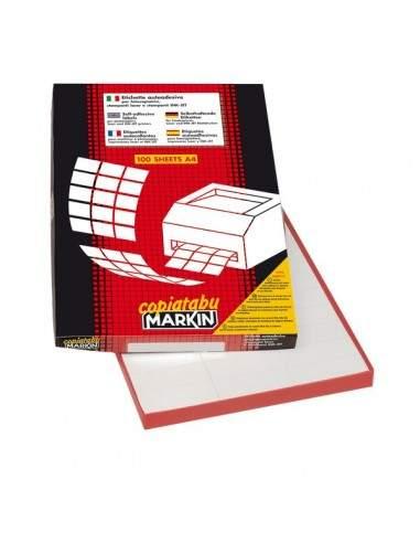 Etichette adesive Markin - 105x99 mm - Nr. etichette / foglio 6 - X210C540 (conf.100)