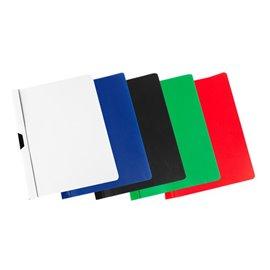 Cartelline con clip A4 Pergamy - 60 ff - dorso 6 mm - bianco - 038-5042-002-08