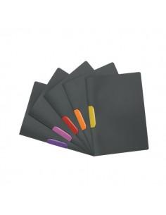 Cartelline Duraswing Colour Durable - A4 - antracite - clip colori assortiti - 2304-00 (conf.5)