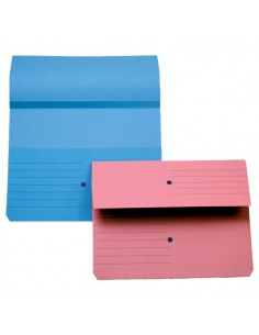 Cartelline canguro 4company - blu 32,5x25,5 cm woodstock 225 g/mq - 3240 01 (conf.10)