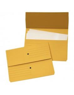Cartelline canguro 4company - giallo 32,5x25,5 cm woodstock 225 g/mq - 3240 04 (conf.10)