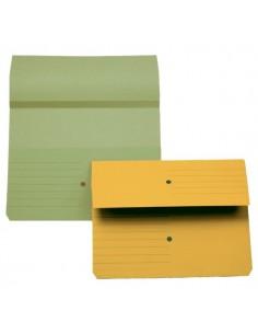 Cartelline canguro 4company - verde 32,5x25,5 cm woodstock 225 g/mq - 3240 02 (conf.10)