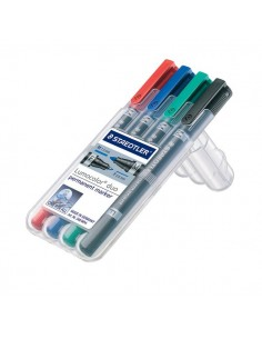 Marcatore Lumocolor® permanent duo Staedtler - 0,6-1,5 mm - assortito - 348 WP4 (conf.4)