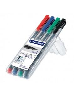 Penna punta sintetica Lumocolor® CD/DVD Staedtler-assortiti-superfine-0,4 mm-310 CDSWP4 (conf.4)
