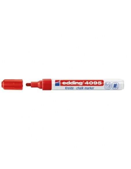 Marcatore a Gesso liquido e-4095 Edding - tonda - 2-3 mm - rosso - 4-4095002