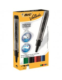 Marcatore Velleda liquido pocket Bic - Tank - assortito - 5 mm - 902099 (conf.4)