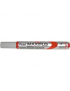 Marcatore Maxiflo Pentel - rosso - tonda - 4 mm - MWL5S-B