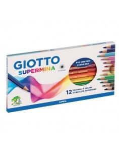 Pastelli Supermina Giotto - 3,8 mm - da 3 anni in poi - 23570000 (conf.12)