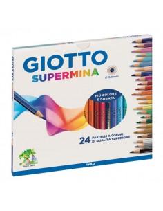 Pastelli Supermina Giotto - 3,8 mm - da 3 anni in poi - 23580000 (conf.24)