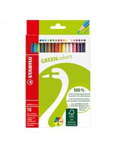 Matite Colorate Greencolors Stabilo - 6019/2-181 (Conf.18)