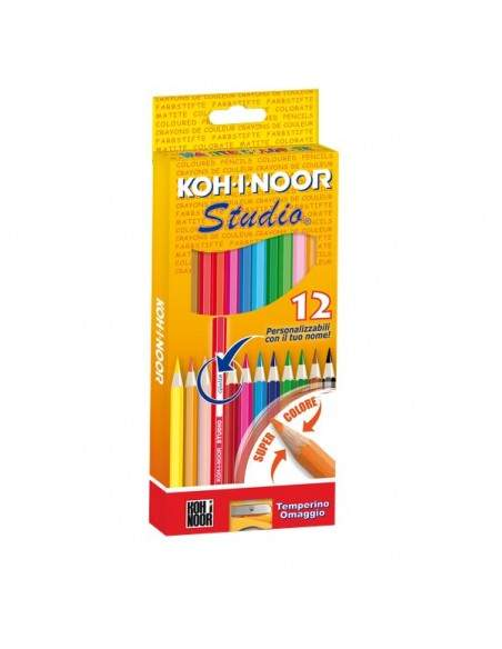 Pastelli STUDIO Koh-i-noor - 2,9 mm - da 3 anni in poi - DH3312 (conf.12)