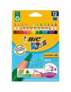 Matite colorate Bic Kids Evolution Triangle - 10,2 mm - da 2 anni - 8297356 (conf.12)