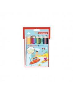 Matite colorate aquacolor® Stabilo - Scatola in metallo - 2,8 mm - da 6 anni - 1612-5 (conf.12)