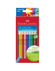 Matite Colorate Acquerellabili Colour Grip Faber Castell - Astuccio Cartone - 112412 (Conf.12)