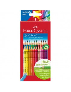 Matite Colorate Acquerellabili Colour Grip Faber Castell - Astuccio Cartone - 112424 (Conf.24)