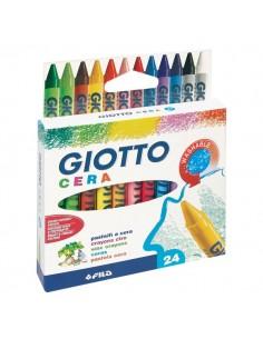 Confezione di pastelli a cera Giotto - 9 mm - da 3 anni in poi - 282200 (conf.24)
