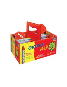 Schoolpack Superpastelli a cera Giotto Be-bè - 5 mm - da 2 anni in poi - 4627 00 (conf.40)