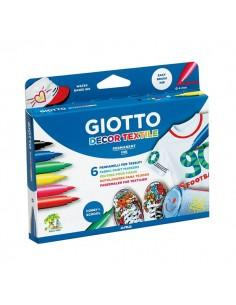 Pennarelli Decor Textile Giotto - 1-3 mm - da 3 anni - 494800 (conf.6)