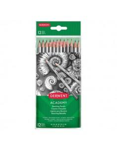 Blister matite in grafite per schizzi Derwent Academy - 6B-5H - 2300412 (conf.12)