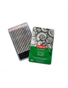Scatola matite in grafite per schizzi Derwent Academy - 6B-5H - 2301946 (conf.12)