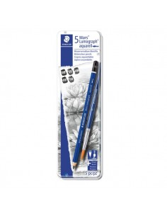 Astuccio matite in grafite Staedtler - 4B-6B-8B - 100A G6 (conf.5)